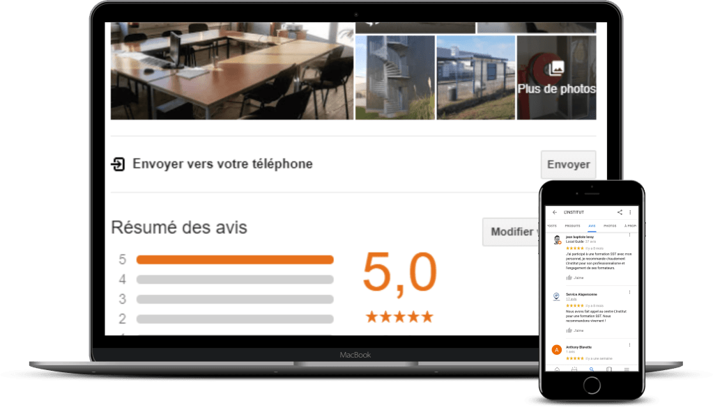 Google business L'Institut formation CQP-APS rouen Nomrandie