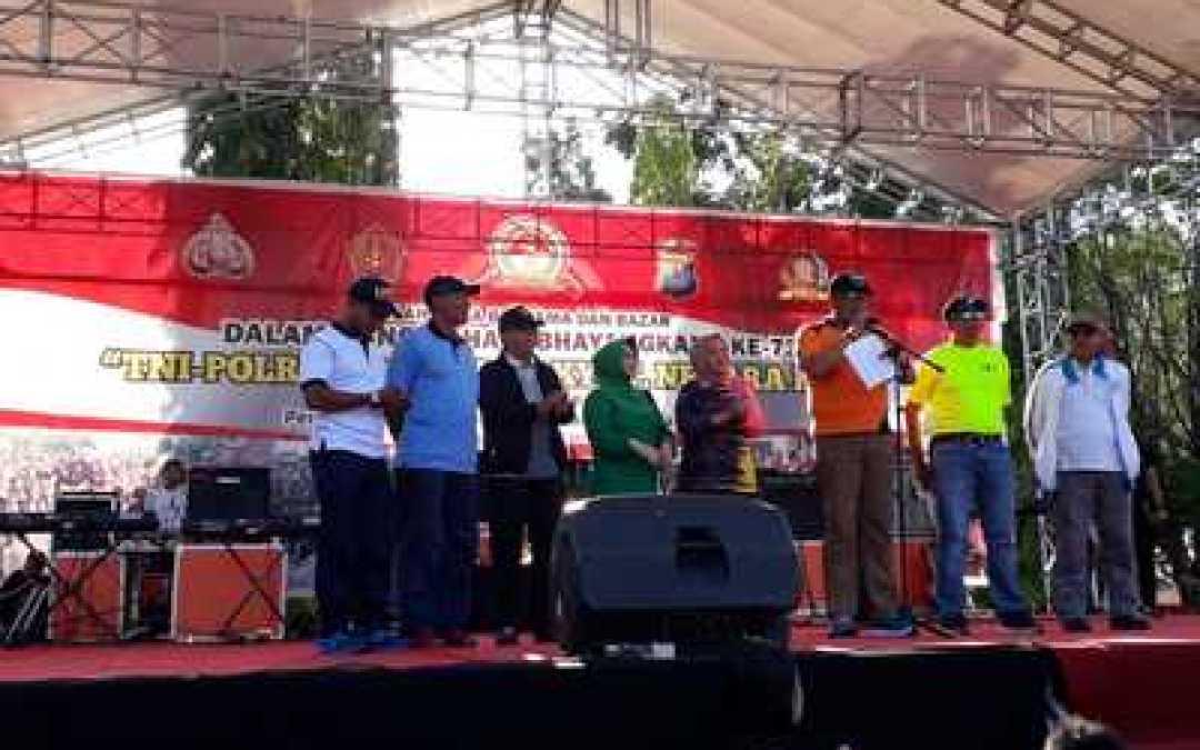 Meriahnya HUT Ke-73 Bhayangkara Polda Kalteng Di Makorem 102/PLK