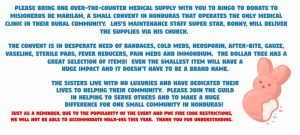 BINGO Medical Supply Request - BINGO Medical Supply Request