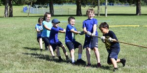 Students playing tug of war - Students-playing-tug-of-war