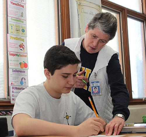 Teacher and student - Upper School