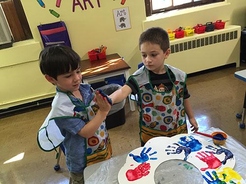 finger painting - Preschool