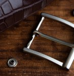 Fine Italian Belt Buckle Brushed metal