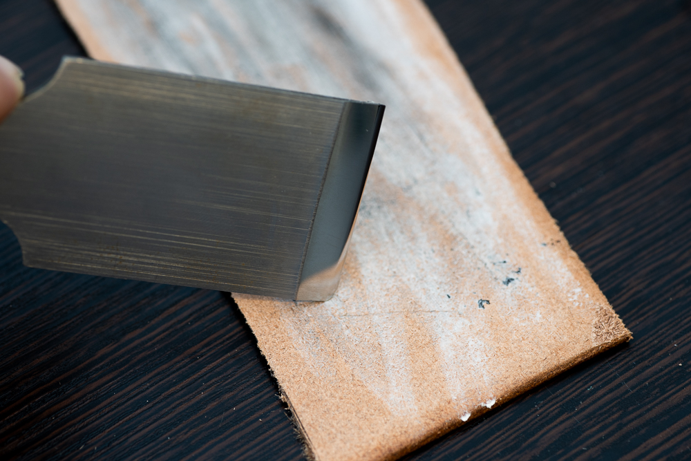 How to sharpen your leather knife