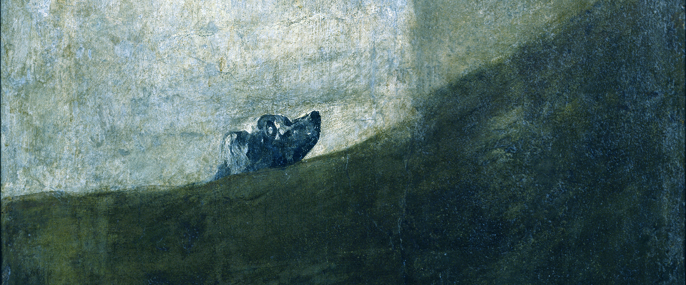 Perro Semihundido – Half-buried Dog – A disquieting work by Francisco de Goya