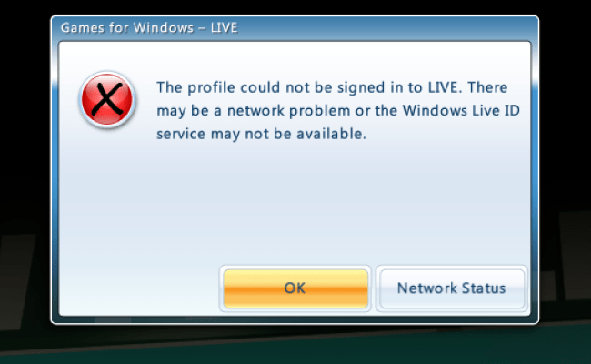 Can T Sign Into Games For Windows Live Troubleshooting