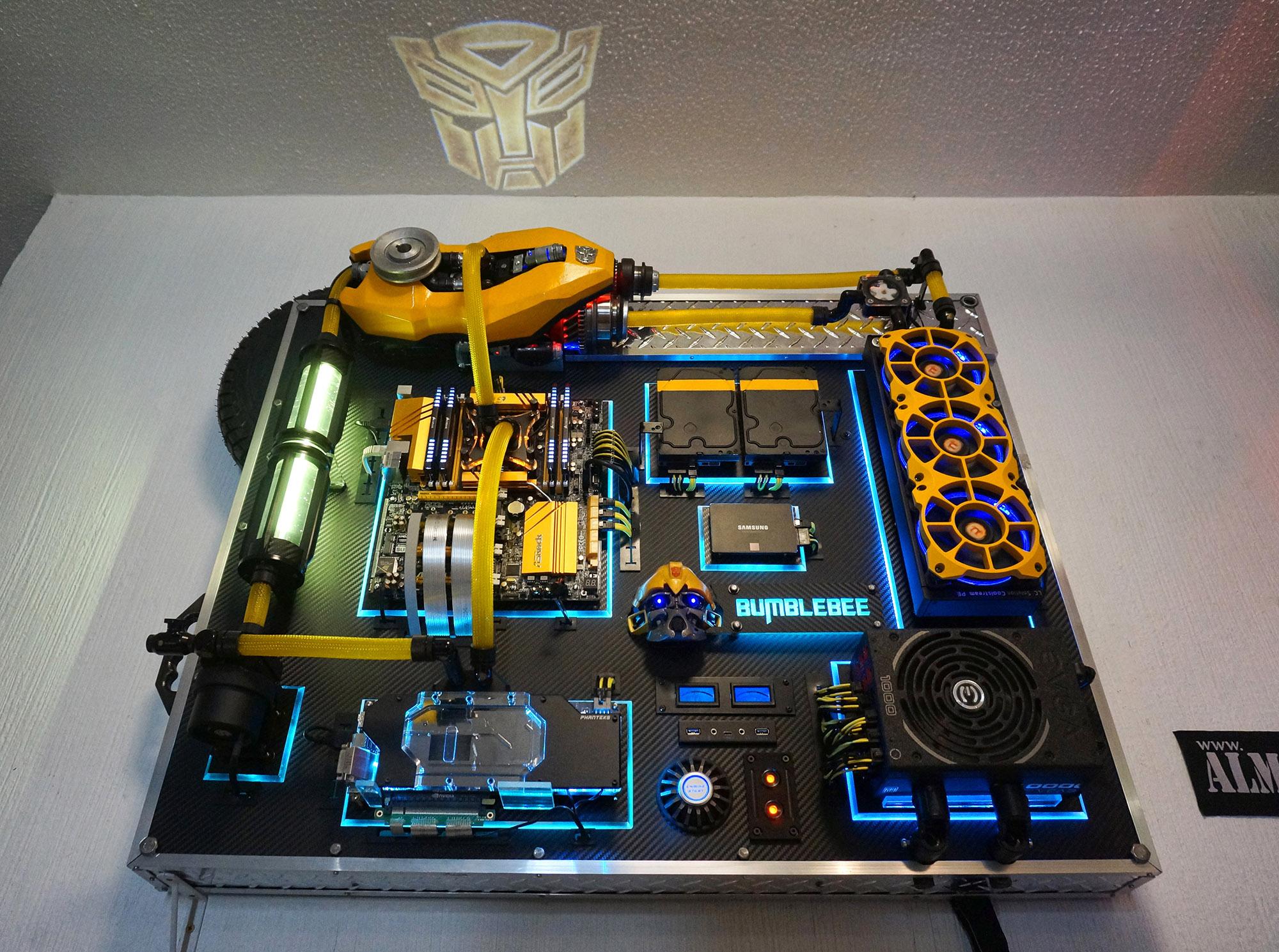 Wallmounted PC  Bumblebee 36 core workstation  Build Logs  Linus Tech Tips