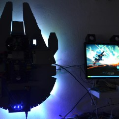 Living Room Gaming Pc Designs Modern Traditional Millennium Falcon Wall Mount (retro Gaming) - Build ...