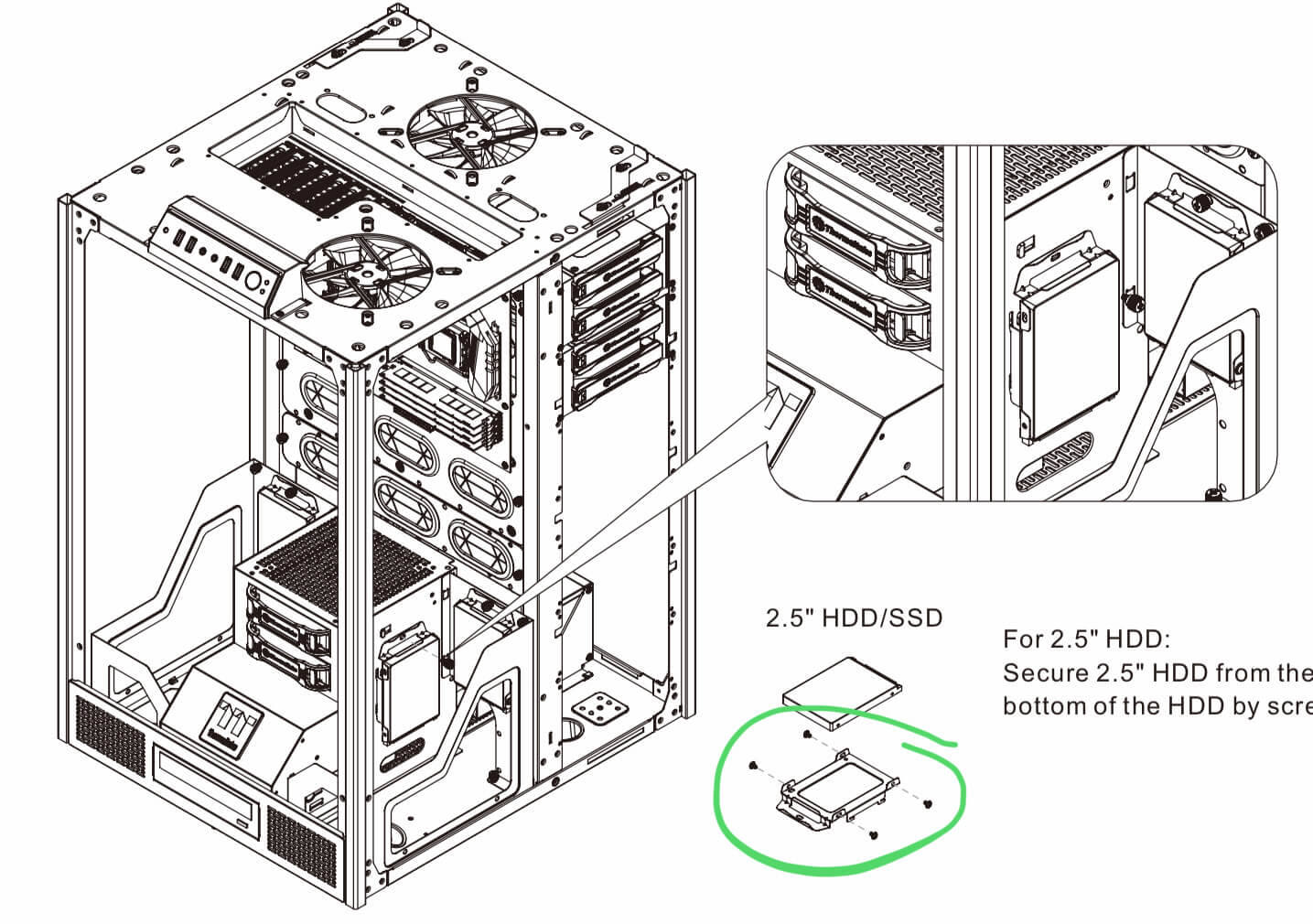 Searching for additional HDD Cages/SSD mounting brackets