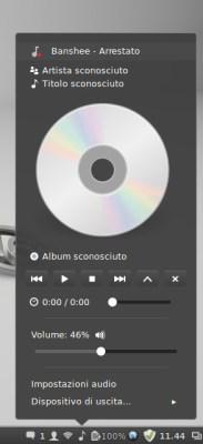 Красивый аудио проигрыватель banshee в Linux Mint