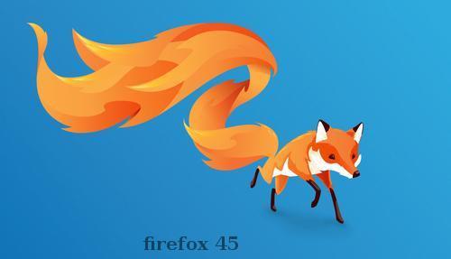 Firefox обновился до версии 45