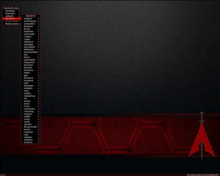 blackarch linux distro