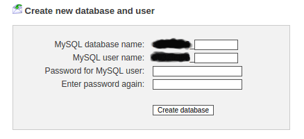 create database to host wordpress