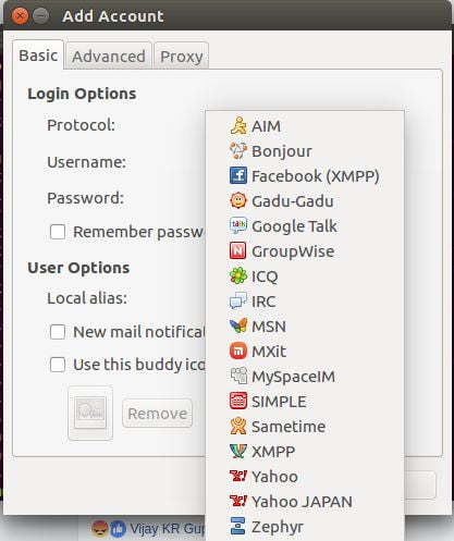 linux messengers pidgin