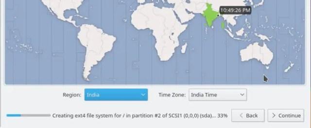 linux mint select timezone