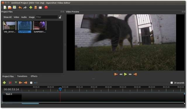 openshot video editing software for linux