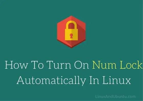 turn on num lock in linux