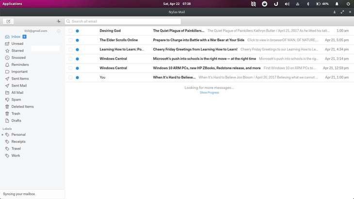 Nylas mail an awesome email client for linux
