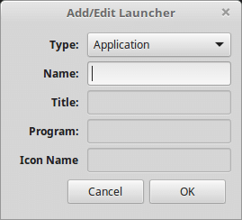 add or edit launcher in linux