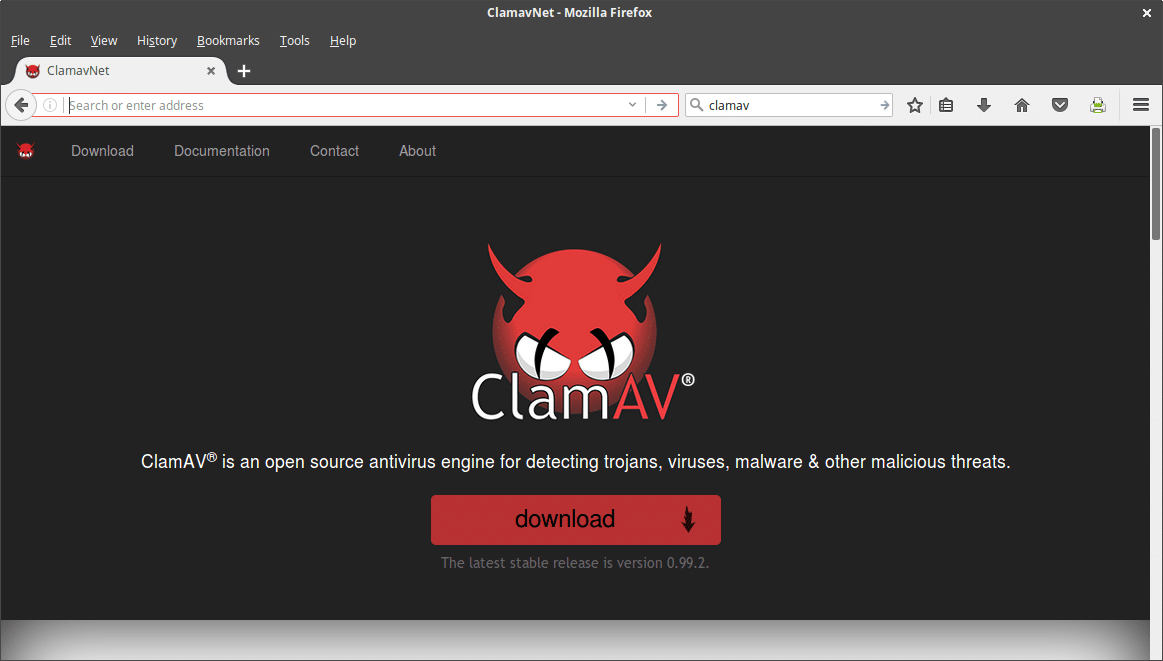 clamav virus scanner in linux