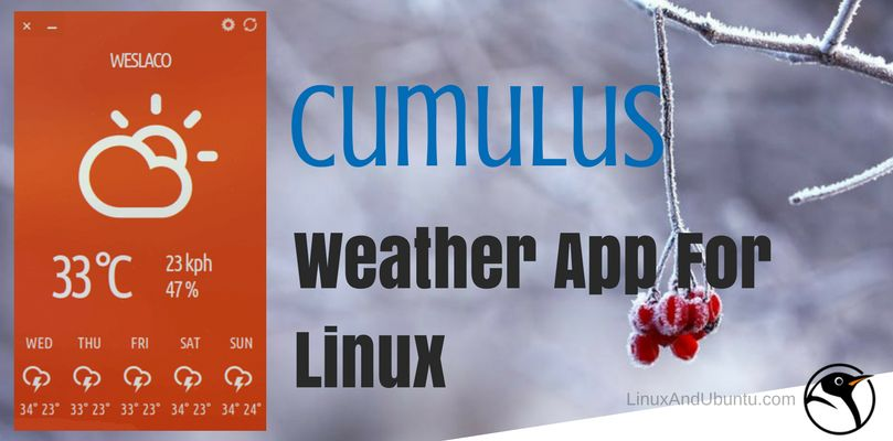 cumulus weather app for linux desktop