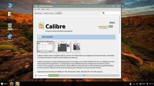 how to install calibre from software center