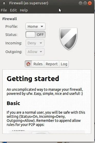 ubuntu mate gufw firewall