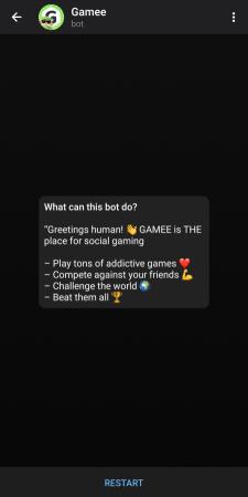 بوت ألعاب في تلجرام