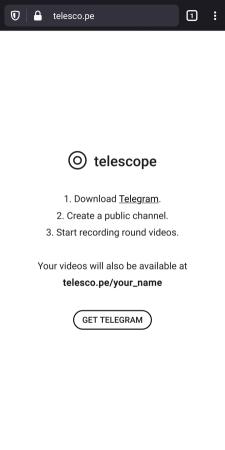 خدمة تلسكوب في تلجرام