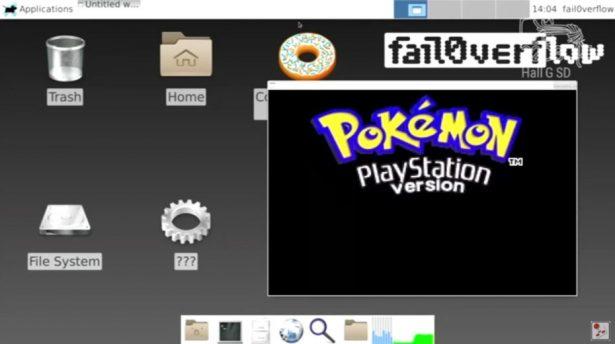 PlayStation 4 homebrew Linux running Pokemon