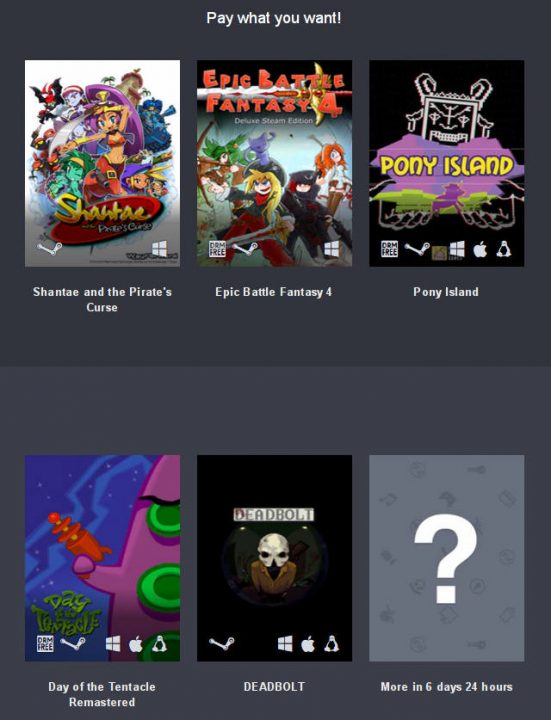 Humble Overwhelmingly Positive Bundle games