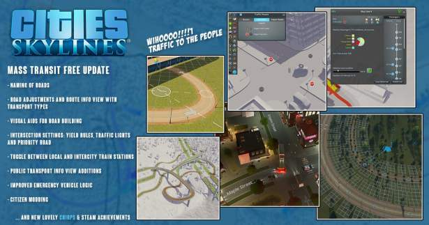 cities: skylines mass transit free update patch linux mac windows pc