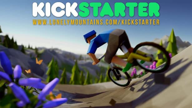 lonely mountains: downhill hits kickstarter for linux mac windows games 2017