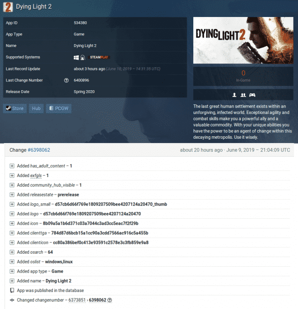 dying light 2 steamdb support in linux windows pc games