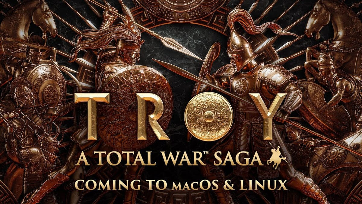 a total war saga troy announces support for linux mac windows pc