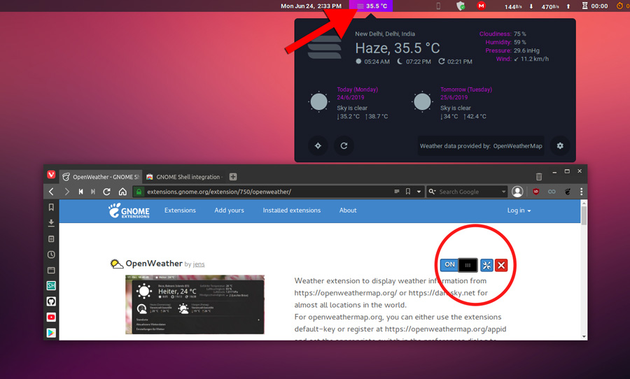 Gnome Extension after adding to your linux system