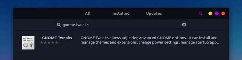 installing gnome tweak from software center - linuxh2o.com
