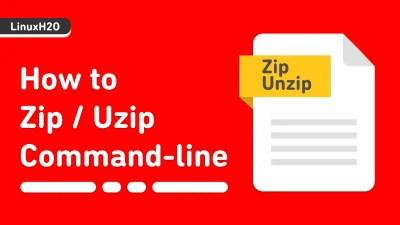 How to zip/unzip using commandline