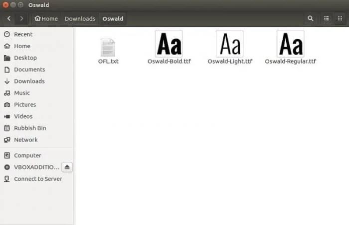 Manually Install Fonts on Ubuntu 16.10, Ubuntu 16.04