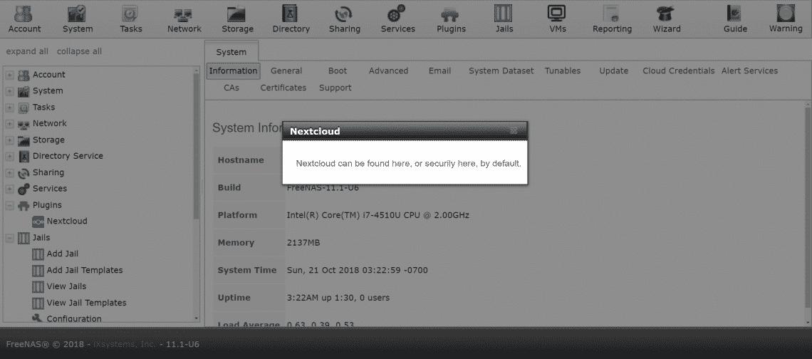 Install Nextcloud on FreeNAS