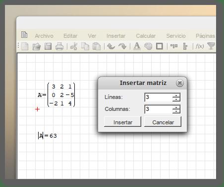 Calcular el determinante de una matriz 3x3 usando smath studio