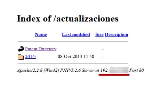 Mi servidor web copiando la estructura de directorios de microsip
