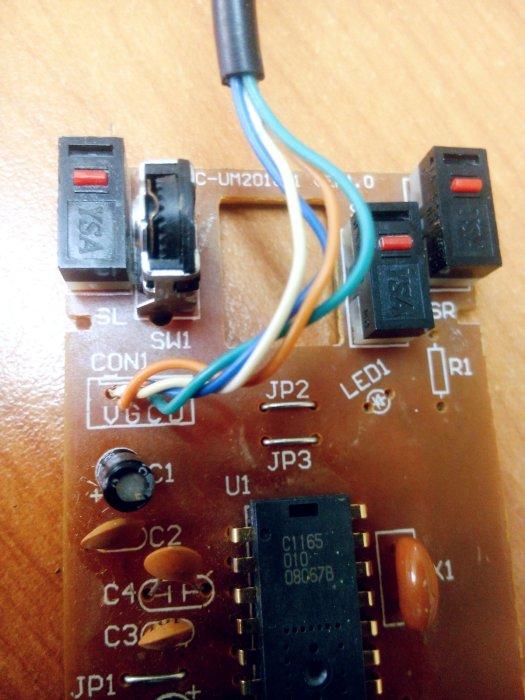Detalle de la tableta de circuitos