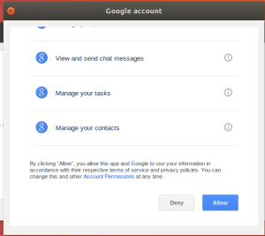 Gnome Online Accounts Settings - Google Sign In