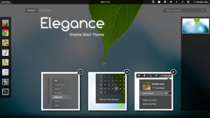 An example of GNOME theming: The Elegance gnome shell