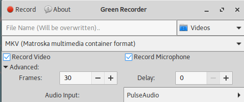 Screencast recording with Green Recorder — The Ultimate