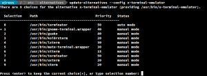 How to update the default application for web browser, terminal and more - update-alternatives