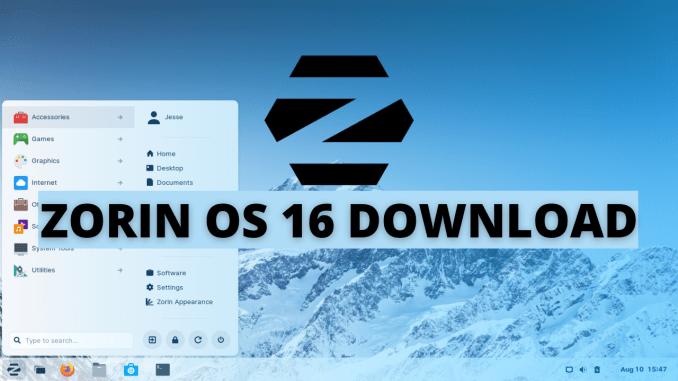 Zorin OS 16 Update Download