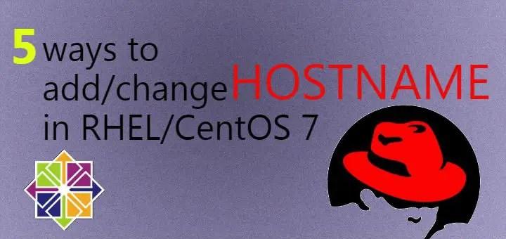 change hostname