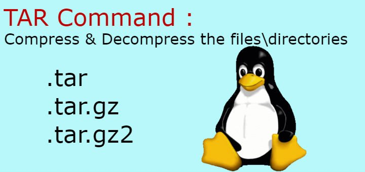 tar command examples